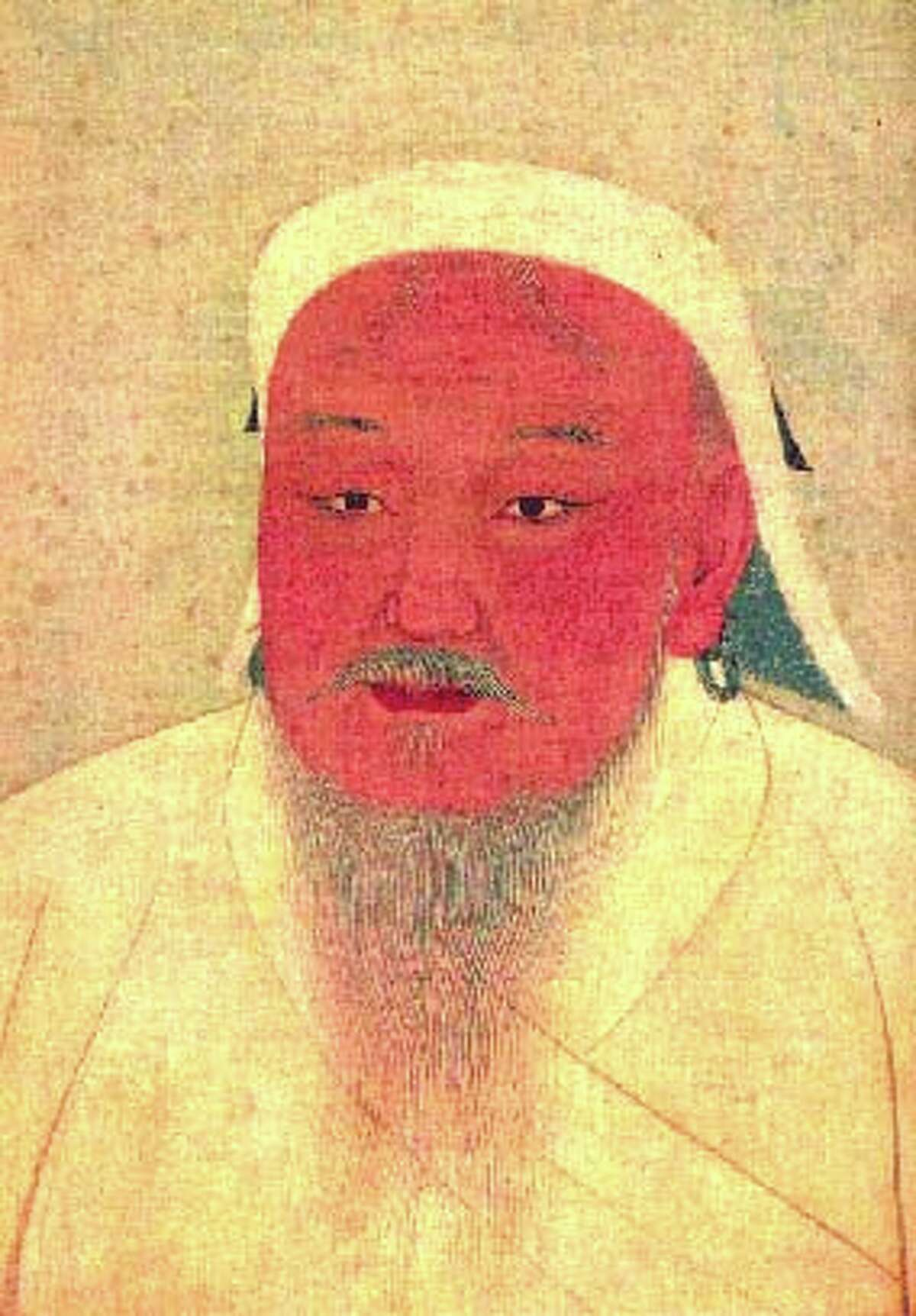 Khan Man: Why's your face so red, Genghis? Sixteen million descendants isn't something to be embarrassed by. Well, unless they're the product of murder and rape. Portrait of Temujin, Yuan Dynasty, National Palace Museum of Taipei