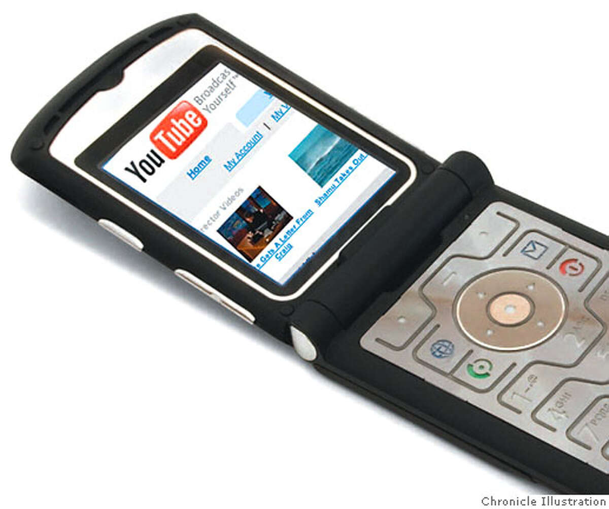 YouTube videos may soon be formatted to fit your cell phone. Most clips last only a few minutes. Chronicle Illustration