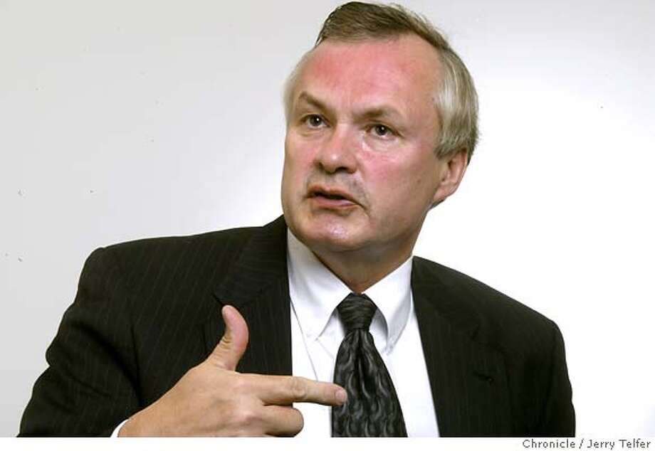 George Halvorson is the CEO of Kaiser, the HMO giant.  Event on 10/30/03 in San Francisco. JERRY TELFER / The Chronicle Photo caption halvorson_PH31067472000The ChronicleGeorge Halvorson is the CEO of Kaiser, the HMO giant.  Event on 10-30-03 in San Francisco. JERRY TELFER - The Chronicle MANDATORY CREDIT FOR PHOTOG AND SF CHRONICLE- -MAGS OUT CAT MANDATORY CREDIT FOR PHOTOG AND SF CHRONICLE/ -MAGS OUT Photo: JERRY TELFER