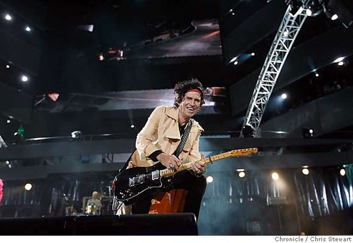 The Rolling Stones Keith Richards (pictured), joins mates Mick Jagger, Ron Wood and Charlie Watts, as they play