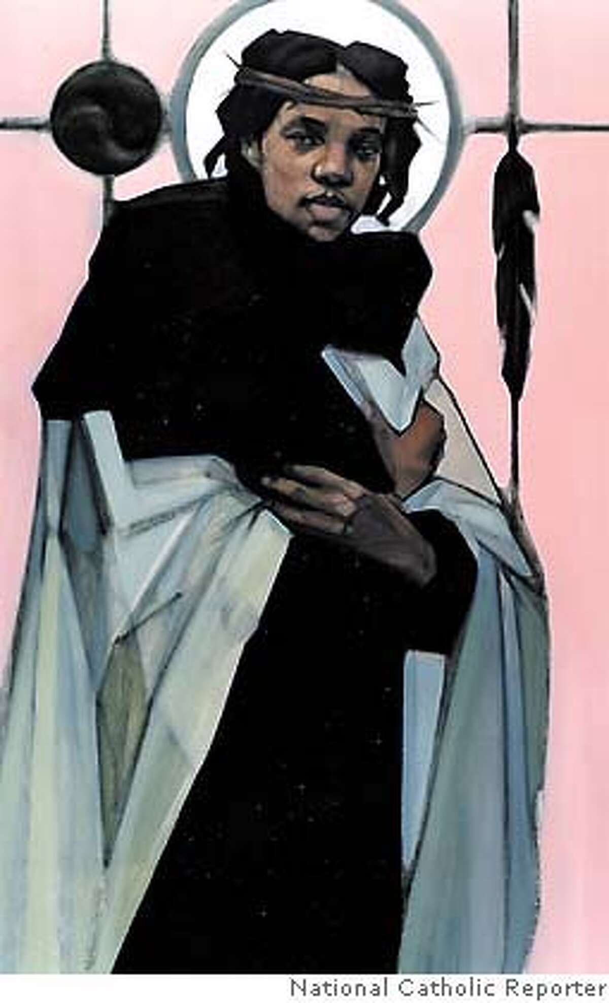 The painting of a black Jesus, shown in this image released Monday, Dec. 13, 1999, has been selected by a Catholic magazine as winner of its global art contest aimed at updating the image of Christ for the new millennium. The painting ``Jesus of the People,'' was selected from nearly 1,700 entries for the cover of a special millennium issue being published this week by the National Catholic Reporter, an independent newsweekly. (AP Photo/National Catholic Reporter) CAT