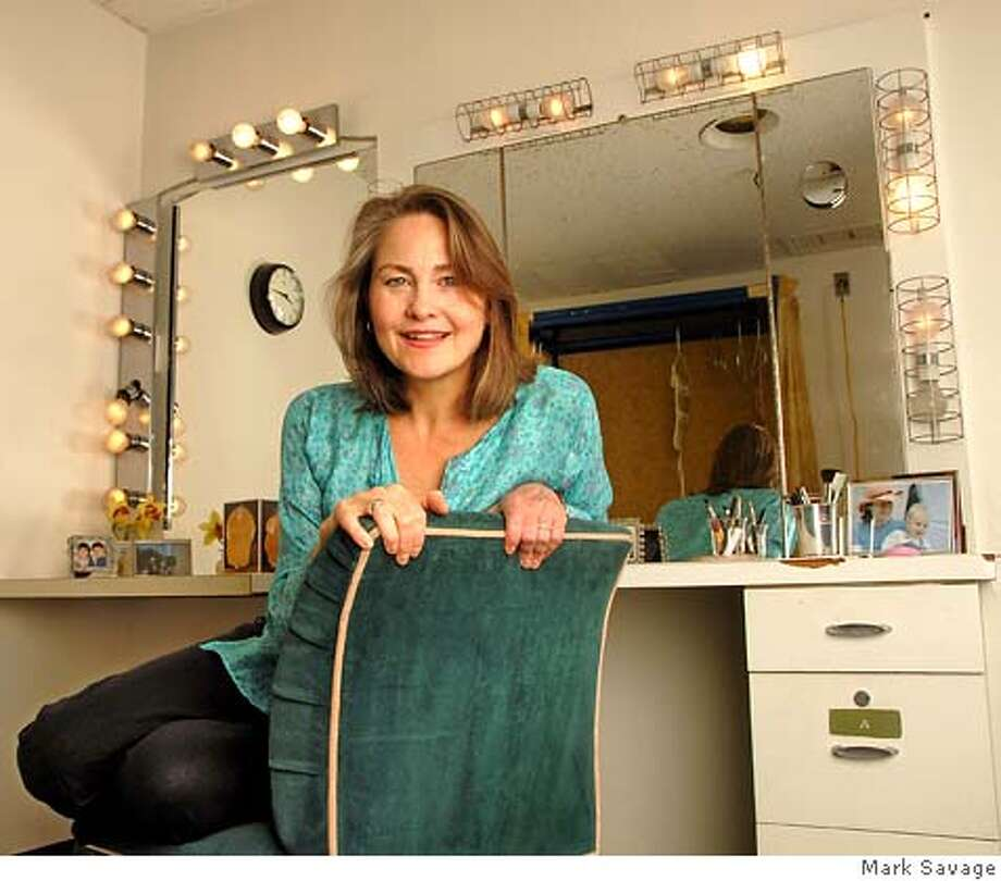 "Actress Cherry Jones in her dressing room at the Ahmanson Theatre. She is the star of the San Francisco-bound stage play ""Doubt."" Copyright 2006 Mark Savage  photo: Mark Savage  www.MarkSavage.com  marksavagephoto@aol.com  310-367-4706 Ran on: 11-05-2006 Ran on: 11-06-2006  Cherry Jones, above, in her dressing room, brings her performance as a school principal in &quo;Doubt,&quo; left, to San Francisco this week. Photo: Mark Savage"