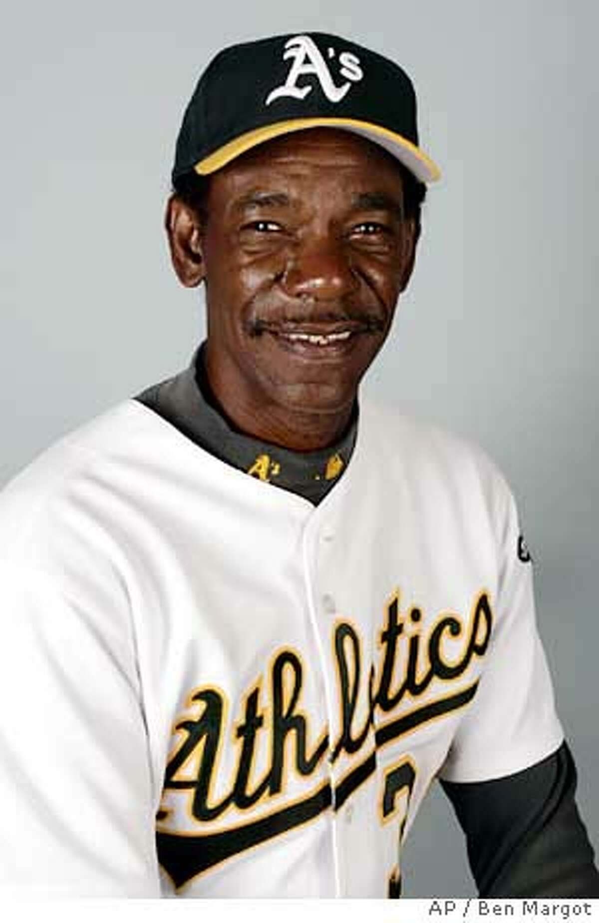"""** FILE ** Ron Washington, shown in this 2006 file photo, was hired as manager of the Texas Rangers after serving as coach of the Oakland Athletics the past 11 seasons. """"It's a done deal,"""" Rangers general manager Jon Daniels said in an e-mail Monday Nov. 6, 2006. (AP Photo/Ben Margot)"""