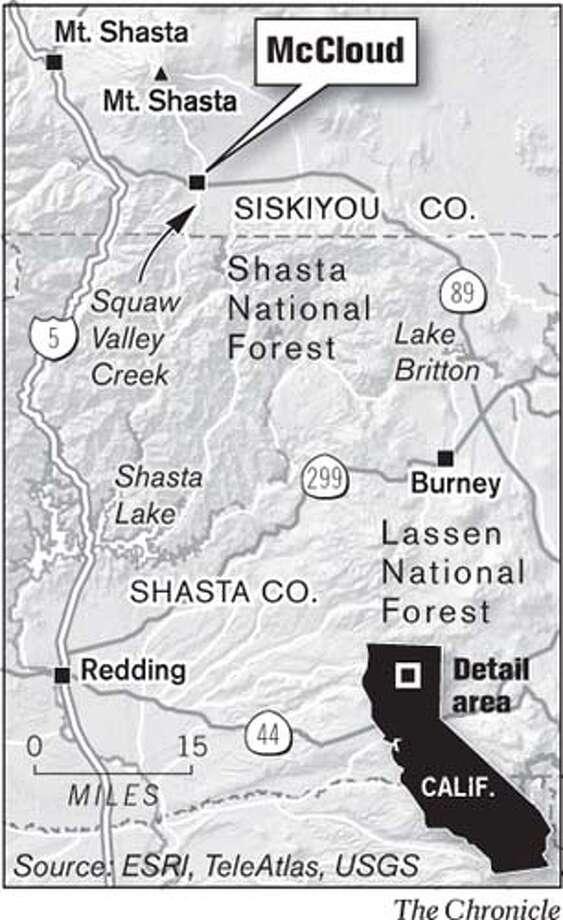 McCloud, Siskiyou County. Chronicle Graphic