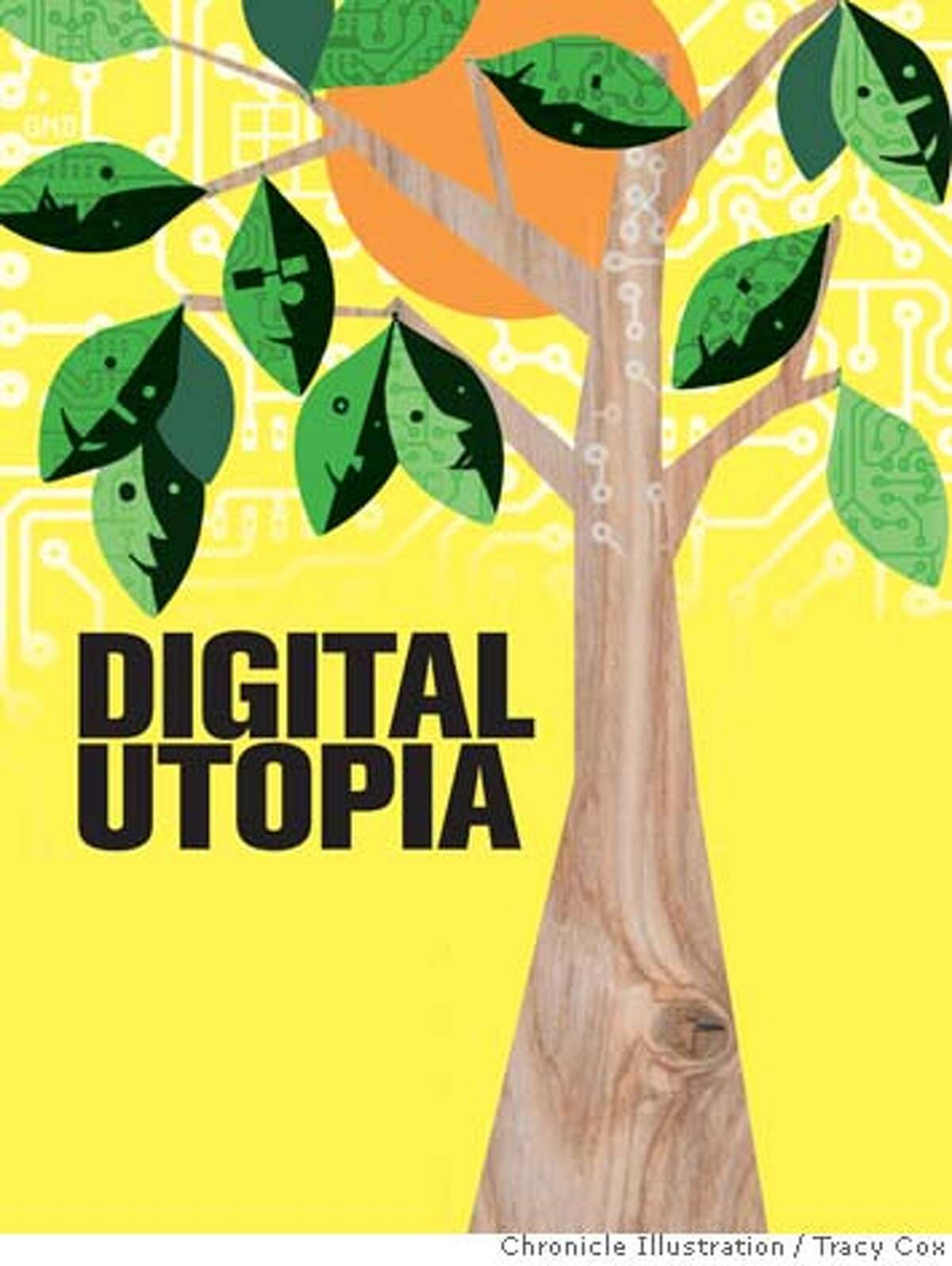 Digital Utopia. Chronicle illustration by Tracy Cox
