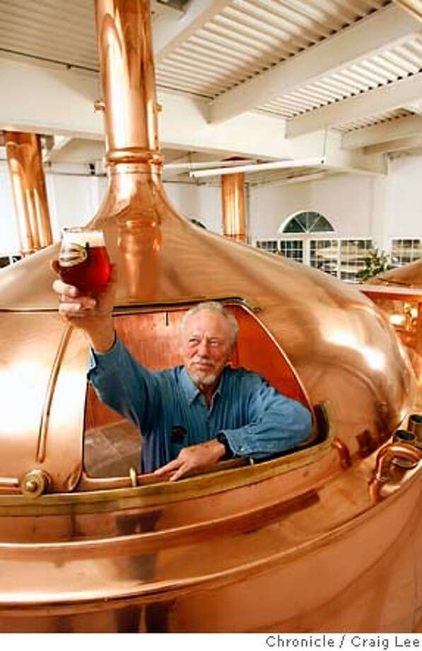 BEERTOUR29_352_cl.JPG  Story about breweries in Mendocino and Sonoma counties. This is Ken Allen of Anderson Brewing Company in Boonville. He is inside one of his copper boiling kettles. Craig Lee / The Chronicle MANDATORY CREDIT FOR PHOTOG AND SF CHRONICLE/ -MAGS OUT Photo: Craig Lee