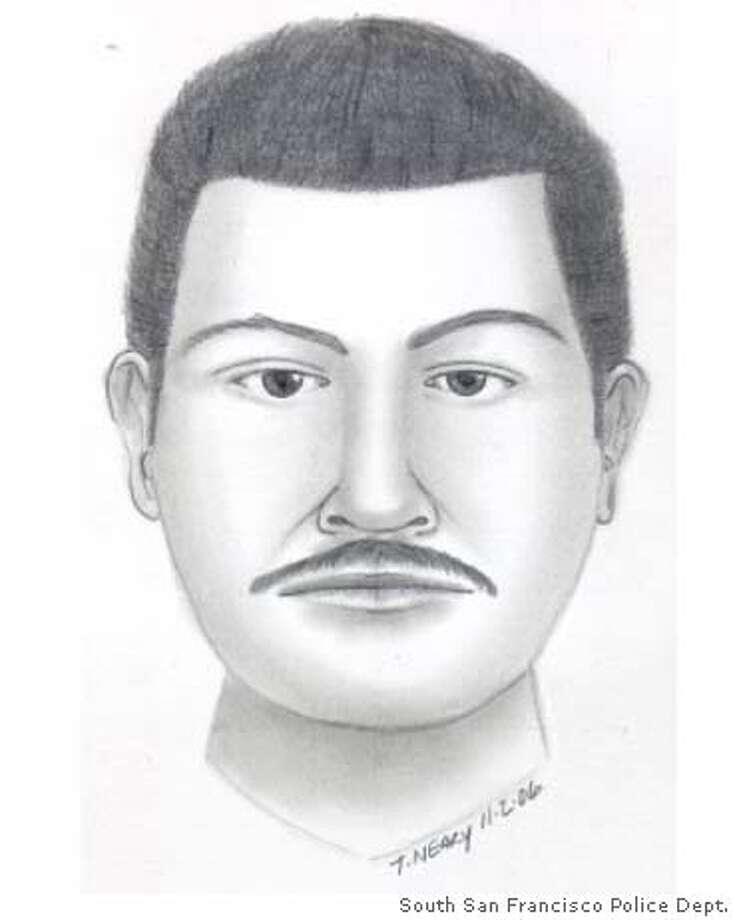 The suspect is believed to be in his late 20s or early 30s. Photo courtesy of South San Francisco Police Department