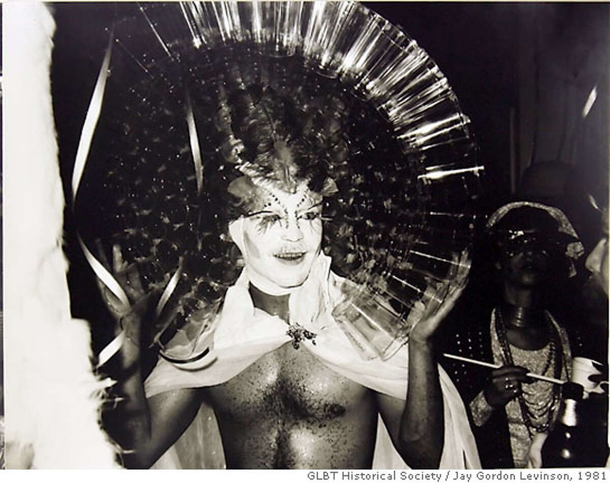 CASTRO03_073_CAG.JPG Halloween photo by Jay Gordon Levinson from 1981. Subject is unknown. Historical photos of Halloween in various private parties and bar parties in or near the Castro District. Photo Courtesy of the GLBT Historical Society Photo taken on 11/2/06, in San Francisco, Ca, USA **All names cq (source) Ran on: 11-03-2006 The owners of Cliffs Variety in the Castro started the Halloween celebrations in 1948 as a costume contest for local children.