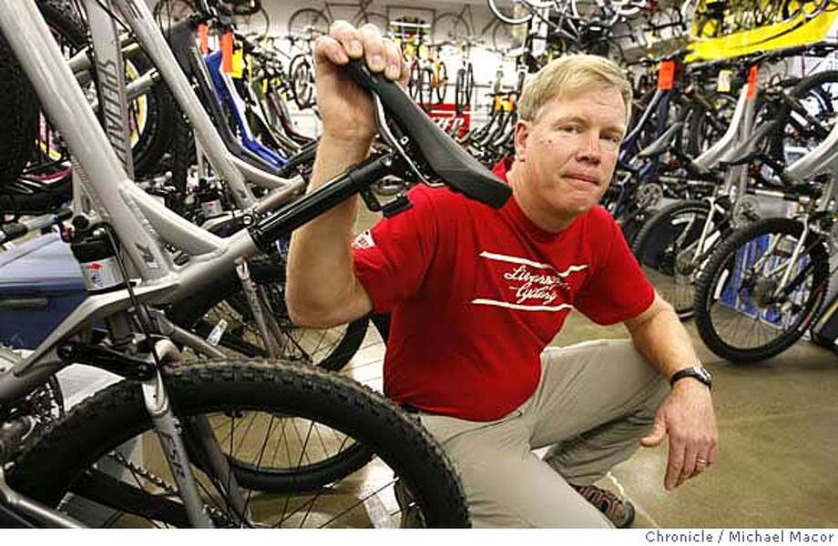eminent02_025_mac.jpg Howard at his bicycle shop, where he relocated over 3 years ago. Steve Howard, owner of Livermore Cyclery, has his business property taken through eminent domain. He is not sure how he will vote on Prop. 90, but said the process needs reform. Ultimately, Howard said the city paid him a fair price for his property, but the process was torturous. Howard got an appraisal that valued his building at $2.4 million, but the city offered him $960,000. He eventually settled for $1.8 million, but only after two years of negotiations that cost him nearly $80,000 in legal fees. When it came to relocating three years ago, he said he got little help from the city, and he had to more than triple his home mortgage. Today, Howard is in a bigger and more lucrative spot, but he says he has to do more business to keep afloat. Event in, Livermore, Ca, on 11/1/06. Photo by: Michael Macor/ San Francisco Chronicle Mandatory credit for Photographer and San Francisco Chronicle / Magazines Out Photo: Michael Macor