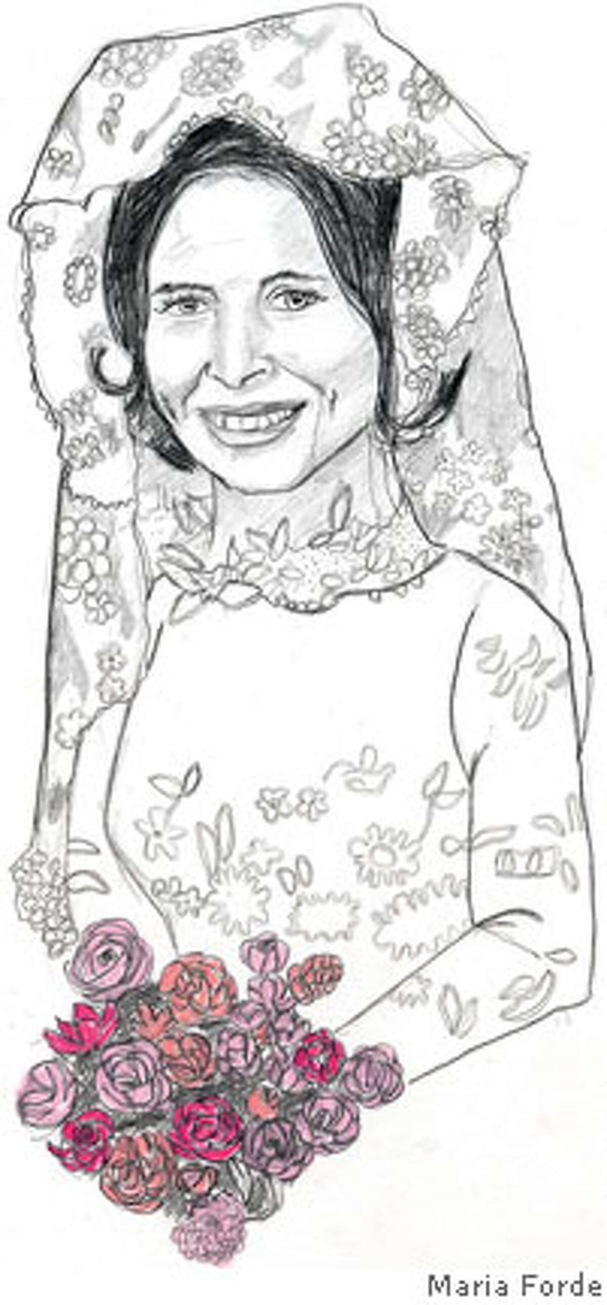 Portrait of the artist's mom, taken from the handbill for Maria Forde's