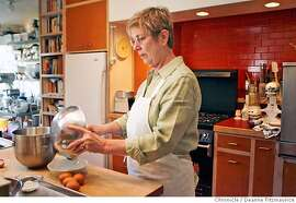 chef01_gage_0016_df.jpg  Pastry chef, Fran Gage, makes a flourless chocolate cake in her San Francisco home. Photographed in San Francisco on 10/26/06. (Deanne Fitzmaurice/ The Chronicle) Mandatory credit for photographer and San Francisco Chronicle. /Magazines out.
