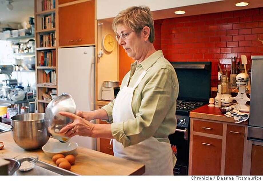 chef01_gage_0016_df.jpg  Pastry chef, Fran Gage, makes a flourless chocolate cake in her San Francisco home. Photographed in San Francisco on 10/26/06. (Deanne Fitzmaurice/ The Chronicle) Mandatory credit for photographer and San Francisco Chronicle. /Magazines out. Photo: Deanne Fitzmaurice