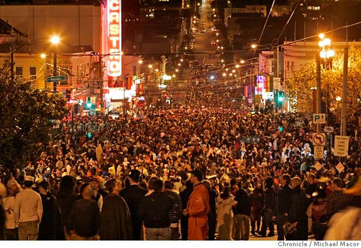 Thousands pack Castro St. for the celebration. Halloween in the Castro of San Francisco. Event in, San Francisco, Ca, on 10/31/06. Photo by: Michael Macor/ San Francisco Chronicle