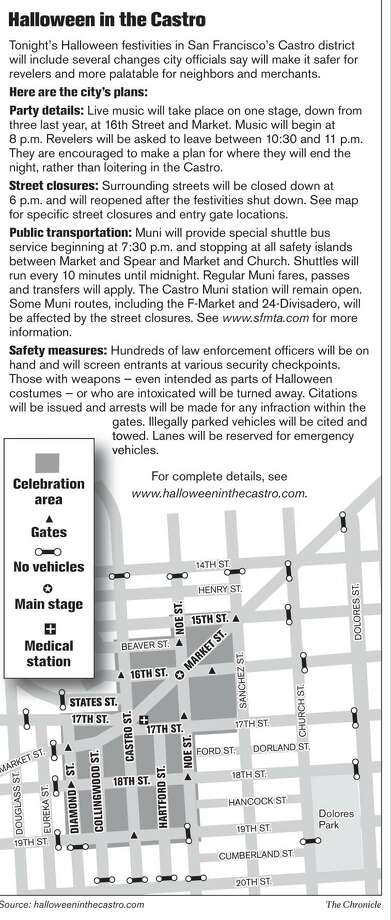Halloween in the Castro. Chronicle Graphic