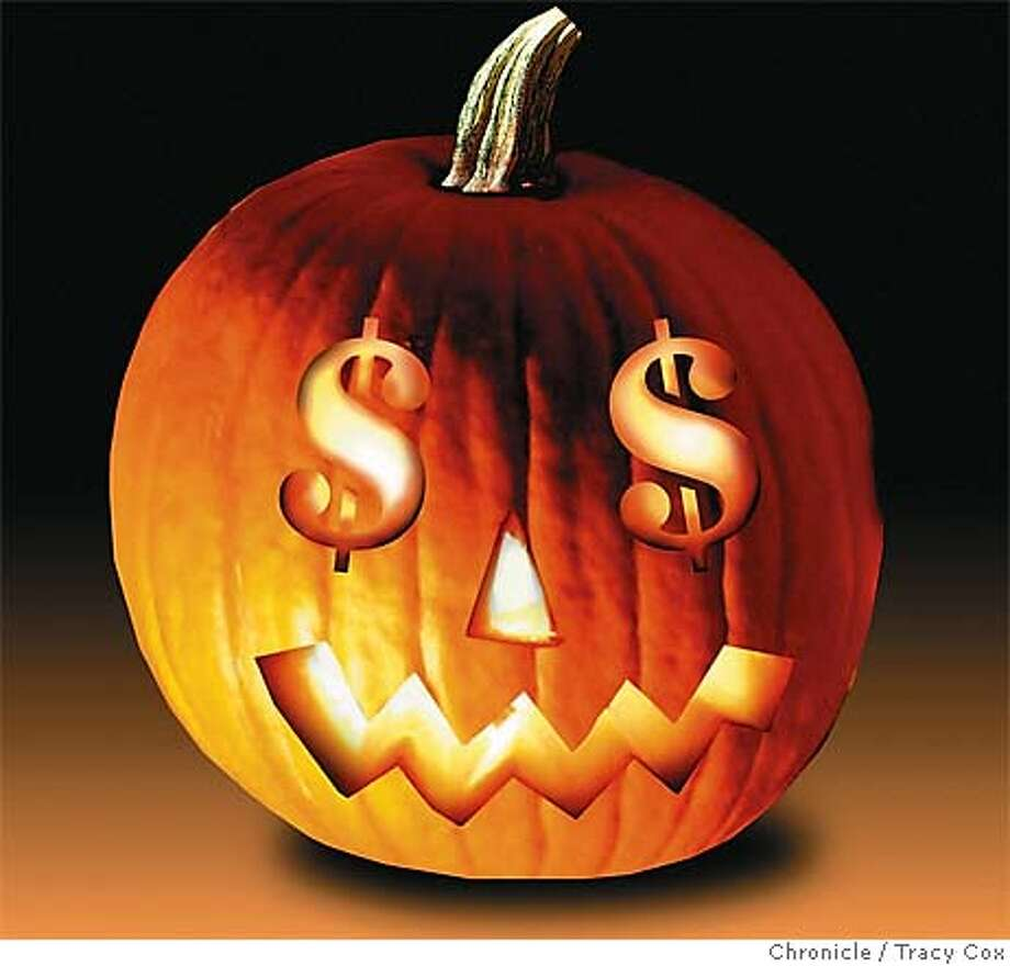 Retailers are enjoying a bigger treat as Halloween becomes a major holiday for much older kids with money to burn. Chronicle illustration by Tracy Cox