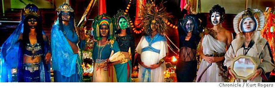 The Masks of Lauren Raine. every one wanted to in the photo.  The 27 annual Spiral Dance a celebration of the dead. (we could not shoot the ceremony). At Kezar Pavilion in San Francisco .  KURT ROGERS/THE CHRONICLE SAN FRANCISCO THE CHRONICLE  SFC PAGANHALLOWEEN_0046_kr.jpg MANDATORY CREDIT FOR PHOTOG AND SF CHRONICLE / -MAGS OUT Photo: KURT ROGERS/THE CHRONICLE