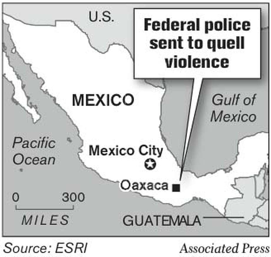 Federal Police Sent to Quell Violence. Associated Press Graphic