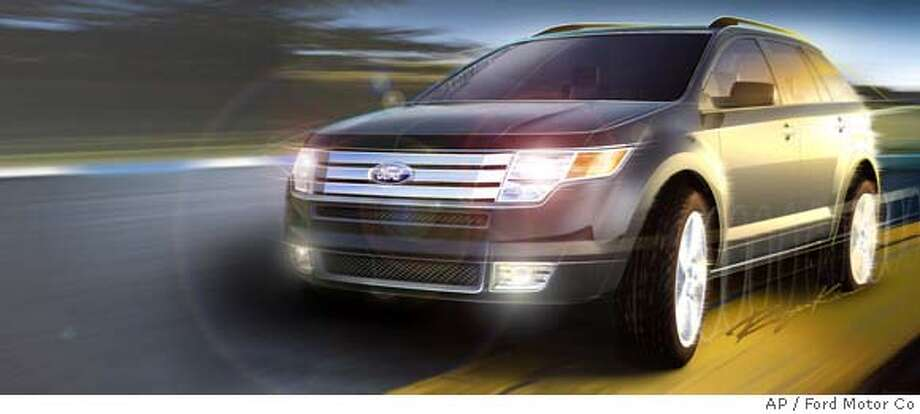 In a photo released by the Ford Motor Co., the 2007 Ford Edge crossover utility vehicle is shown in an artist rendering. On Thursday, Dec. 8, 2005 the automaker's top sales analyst gave his forecast for 2006 vehicle sales. Gas prices could play a big role in whether sport utility vehicle sales stabilize or continue their recent free fall. The Edge will be shown at the North American International Auto Show in Detroit in January. (AP Photo/Ford Motor Co., ho) Ran on: 12-16-2005  An artist's rendering shows the 2007 Ford Edge, a crossover utility vehicle. Ran on: 12-16-2005  An artist's rendering shows the 2007 Ford Edge, a crossover utility vehicle. PHOTO PROVIDED BY THE FORD MOTOR CO Photo: Ap
