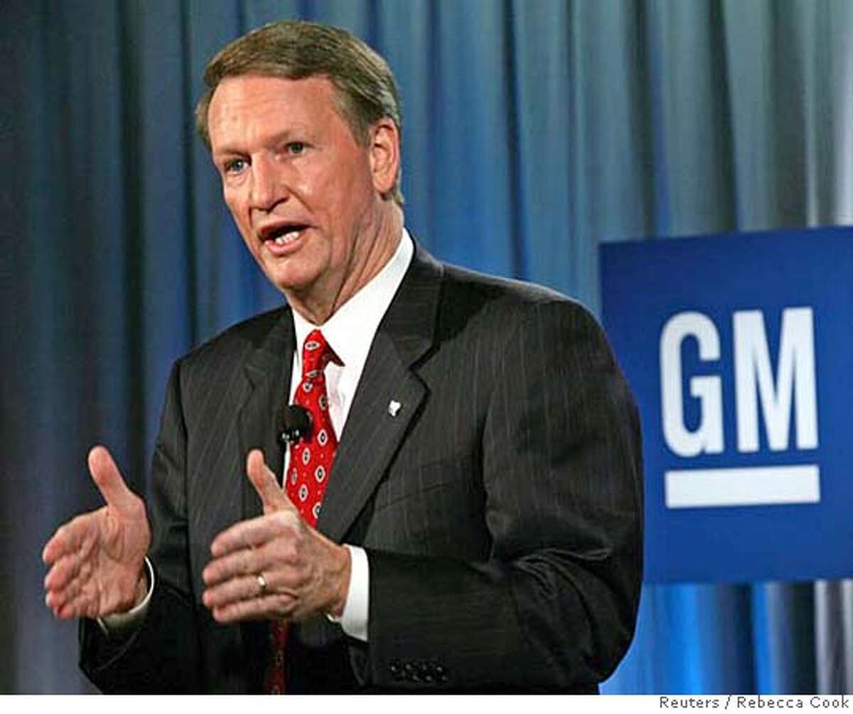 General Motors Chairman and CEO Rick Wagoner announces a major restructuring of the world's largest automotive company during a news conference at the company's headquarters in Detroit November 21, 2005. General Motors Corp. said on Monday it will cut about 30,000 jobs or 9 percent of its total work force, close or curtail operations at 12 plants in North America and slash the amount of vehicles it produces by 1 million as it attempts to reduce costs by $7 billion. REUTERS/Rebecca Cook Ran on: 11-24-2005 Chairman and CEO Rick Wagoner announces plans Monday to cut 30,000 jobs at ailing GM.Ran on: 04-01-2006 Rick Wagoner, GM chairman, says he expects Delphi to honor its commitments. 0