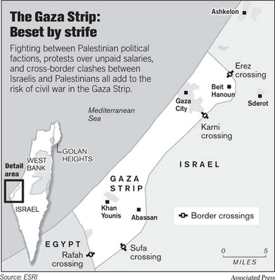 The Gaza Strip: Beset by Strife. Associated Press Graphic