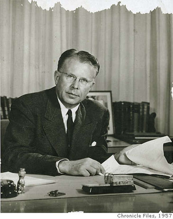 Dr. Ernest O. Lawrence, U.C. Photo stamped on back MAY 27, 1957 Pink/datebook Photo: Chronicle File Photo