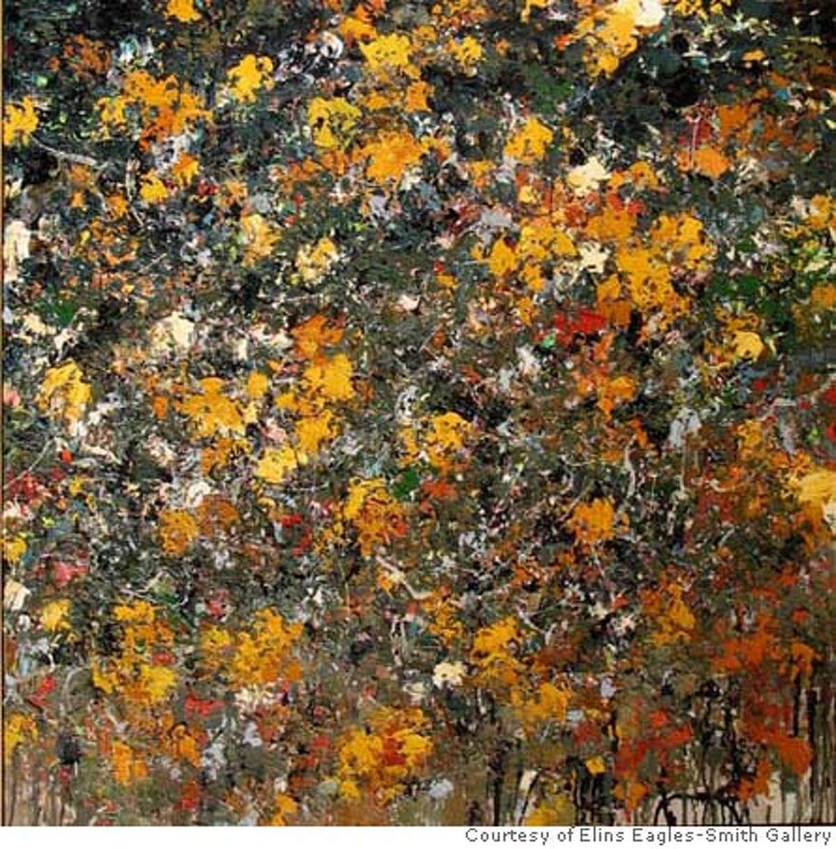 """""""Ground Cover #48"""" (2003) oil on canvas by Charles Eckart. Credit: Courtesy of Elins Eagles-Smith Gallery, San Francisco"""