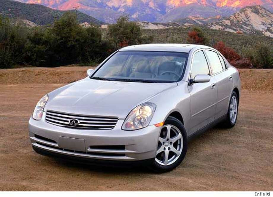 (NY704-March 11) TRENDY LUXURY -- The newest Infiniti, the G35, is aimed at younger buyers, with high style and a lower price than other Infiniti models. (AP Photo/Infiniti)  Ran on: 10-28-2006 Ran on: 10-28-2006 Ran on: 10-28-2006 Ran on: 10-28-2006 Photo: Photo Courtesy Infinity