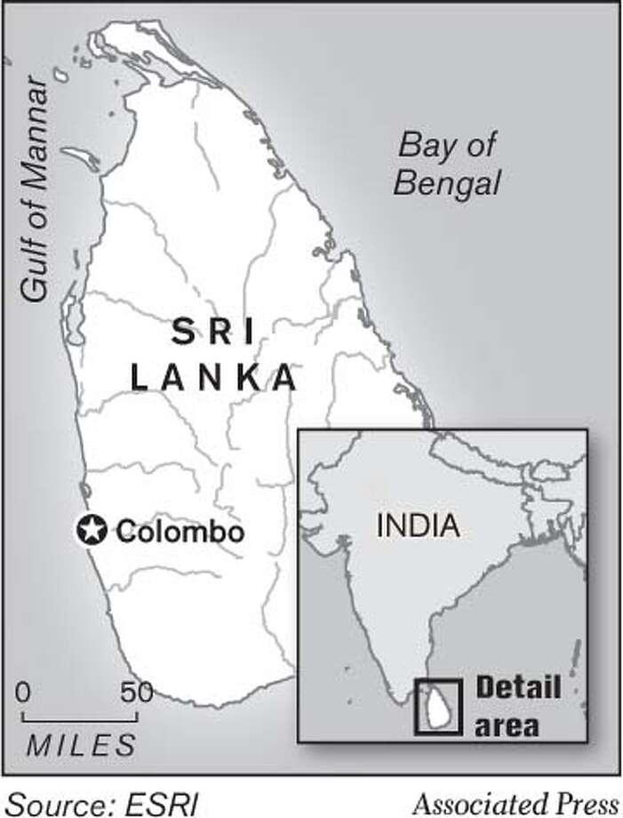 Sri Lanka. Associated Press Graphic