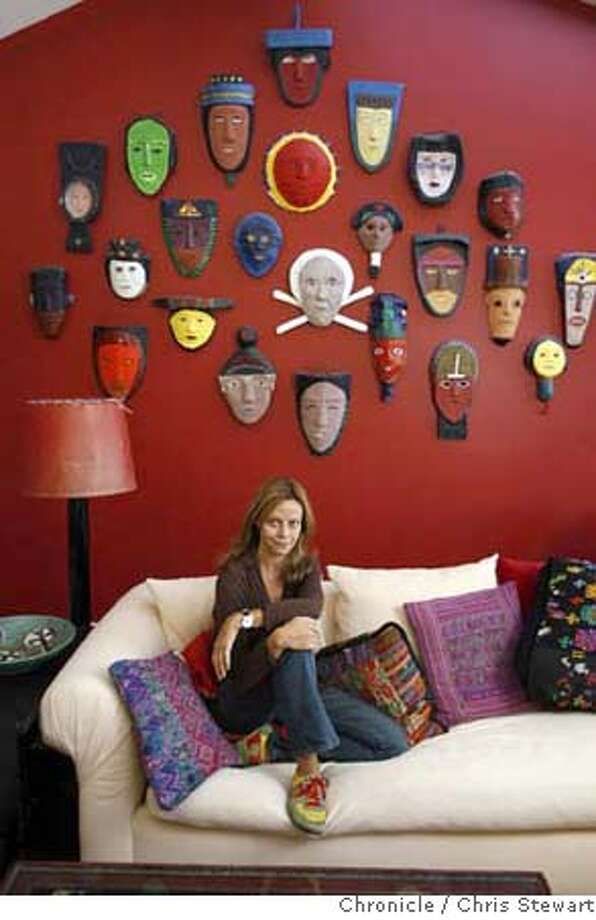 Maynard28_053_cs.jpg Joyce Maynard, 52, at her Mill Valley home in front of her collection of masks by the late Spanish artist Francisco Sainz. She has published her first non-fiction crime book, Internal Combustion: The Story of a Marriage and a Murder in the Motor City. Chris Stewart / The Chronicle MANDATORY CREDIT FOR PHOTOG AND SF CHRONICLE/ -MAGS OUT Photo: Chris Stewart
