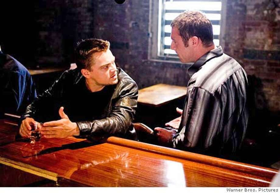 Leonardo DiCaprio and David O'Hara in Warner Bros. Pictures' The Departed - 2006  Ran on: 10-06-2006  Leonardo DiCaprio plays an officer who reluctantly goes undercover to join a gang in &quo;The Departed.&quo; Photo: Warner Bros. Pictures