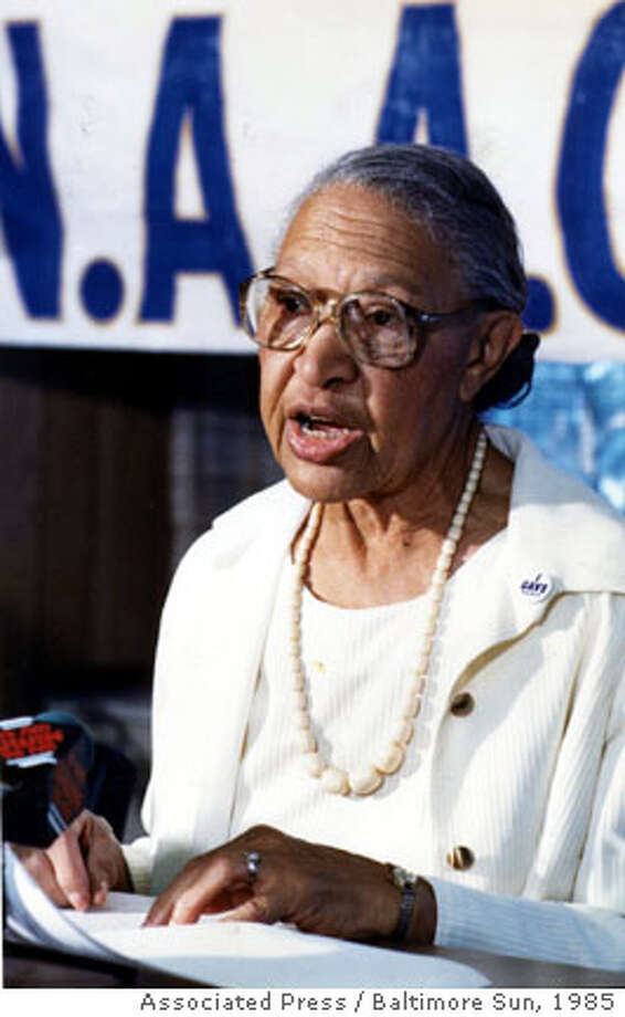 Enolia P. McMillan is shown in this July 1985 photo. McMillan, the first female president of the NAACP, has died of natural causes, the Baltimore-based organization confirmed Wednesday, Oct. 25, 2006. She was 102. (AP Photo/Baltimore Sun ) ** MANDATORY CREDIT, NO MAGS, , NO INTERNET, NO TV **