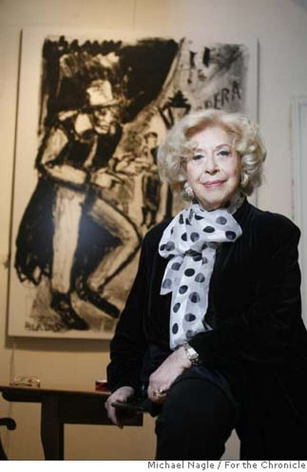 NEW YORK - OCTOBER 11, 2006: Opera singer Regina Resnik poses for portraits in front of her husband's artwork in her Midtown apartment on October 11, 2006 in New York City.(Photograph by Michael Nagle for The San Francisco Chronicle) Photo: Michael Nagle