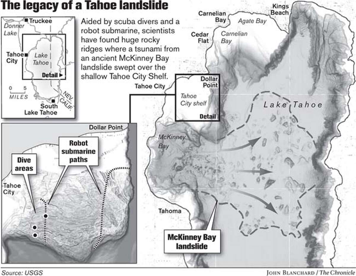 The legacy of a Tahoe landslide. Chronicle graphic by John Blanchard