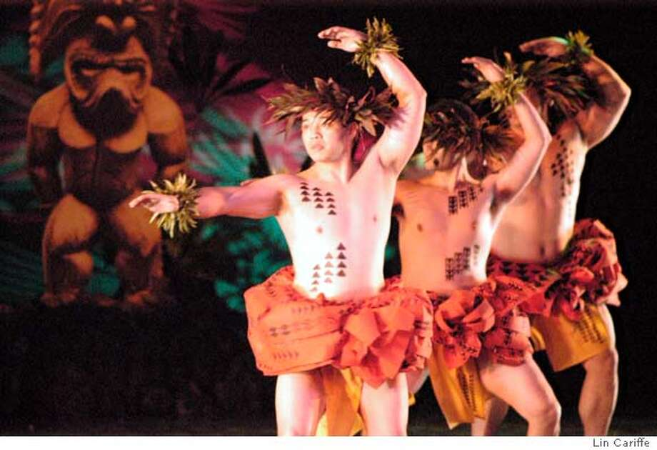 San Francisco-based N? Lei Hulu I Ka W?kiu performs a blend of traditional and contemporary forms of Hawaiian dance when it comes to Cal Performances March 18, 2006. Photo by Lin CariffeRan on: 03-18-2006  Na Lei Hulu I Ka Wekiu hula dancers will perform at Zellerbach.  Ran on: 10-26-2006  The men of Na Lei Hulu I Ka Wekiu in &quo;Daughters of Haumea.&quo; Photo: Lin Cariffe