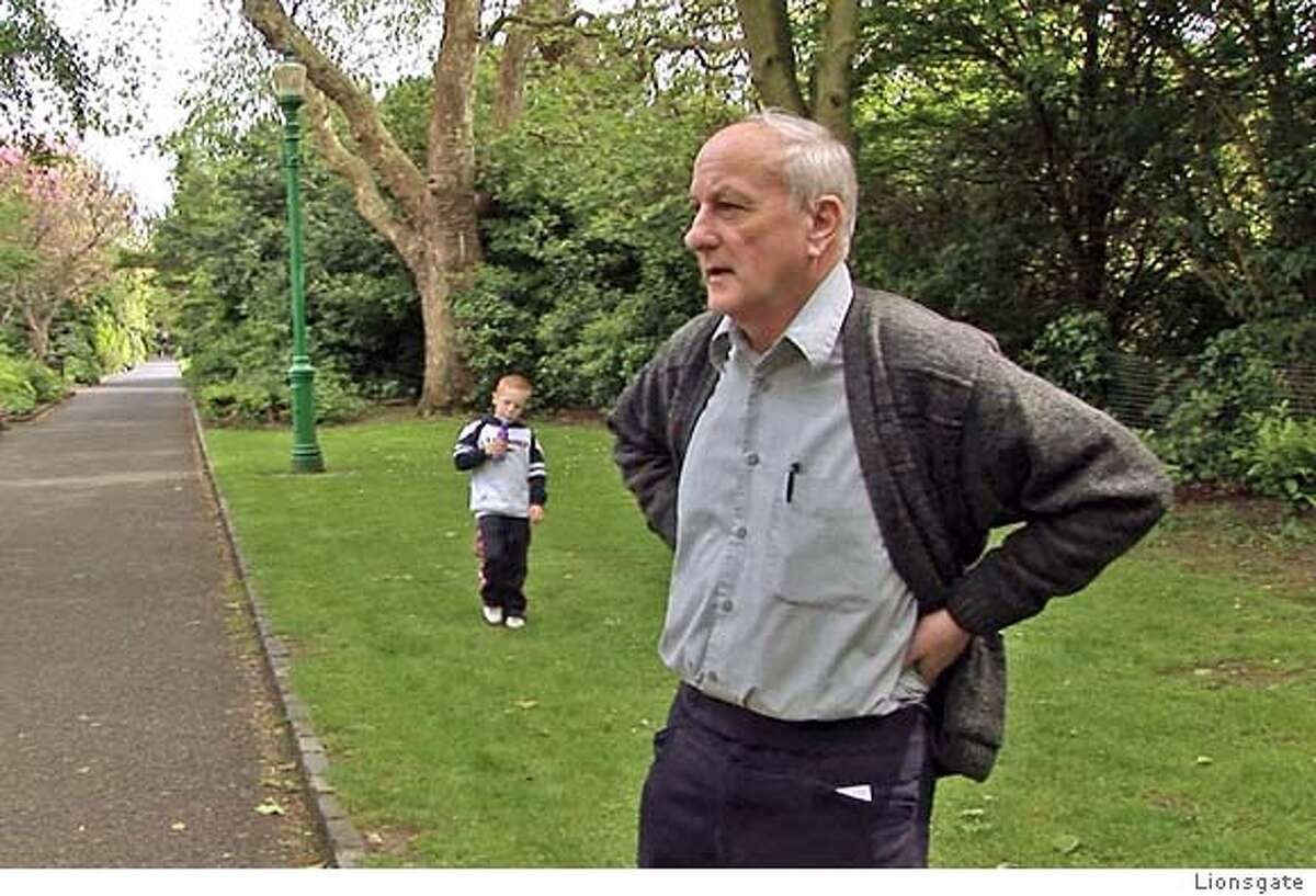 Oliver O'Grady in a public park in Ireland. Photo courtesy of Lionsgate.