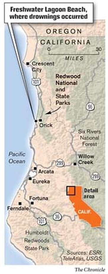 Freshwater Lagoon Beach. Chronicle Graphic