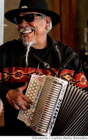 "Dr. Loco (cq) performs at the Oakland Museum of California on Sunday, October 22, 2006. The Oakland Museum of California celebrates Days of the Dead, the Mexican tradition of honoring dead loved ones and ancestors with ""Laughing Bones/Weeping Hearts: Dia De Los Muertos 2006"". The event will be the highlight of the exhibition, and Sunday's festivities included craft activities, food, music dance performance and more.  Photo by Carlos Avila Gonzalez/The San Francisco Chronicle  Photo taken on 10/22/06, in Oakland, Ca, USA  **All names cq (source) Photo: Carlos Avila Gonzalez"