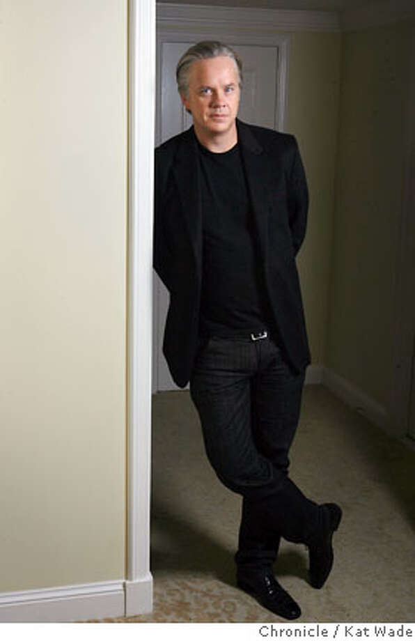 "ROBBINS_0004_KW_.jpg Actor Tim Robbins who plays ""Vos"" an Afrikaner police officer in the movie ""Catch a Fire,"" a true story inspired by Patrick Chamusso's life under Apartheid in South Africa, poses for a portrait at the Ritz Carlton Hotel in San Francisco on Wednesday October 11, 2006. Kat Wade/The Chronicle Ran on: 10-22-2006  Tim Robbins went to South Africa for research on his role as an Afrikaner police officer in the film &quo;Catch a Fire.&quo; Photo: Kat Wade"