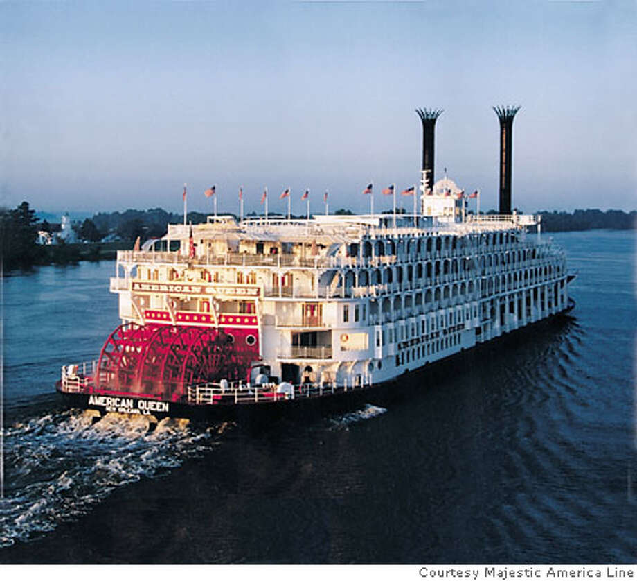 TRAVEL STEAMBOAT -- American Queen paddlewheeler, which will be the new flagship for Majestic America Line, a cruise line created by a company that purchased American West Steamboat Company and Delta Queen Steamboat Company.  Ran on: 10-22-2006  Sternwheeler American Queen will return to New Orleans in March, but under a new owner. Photo: Courtesy Majestic America Line
