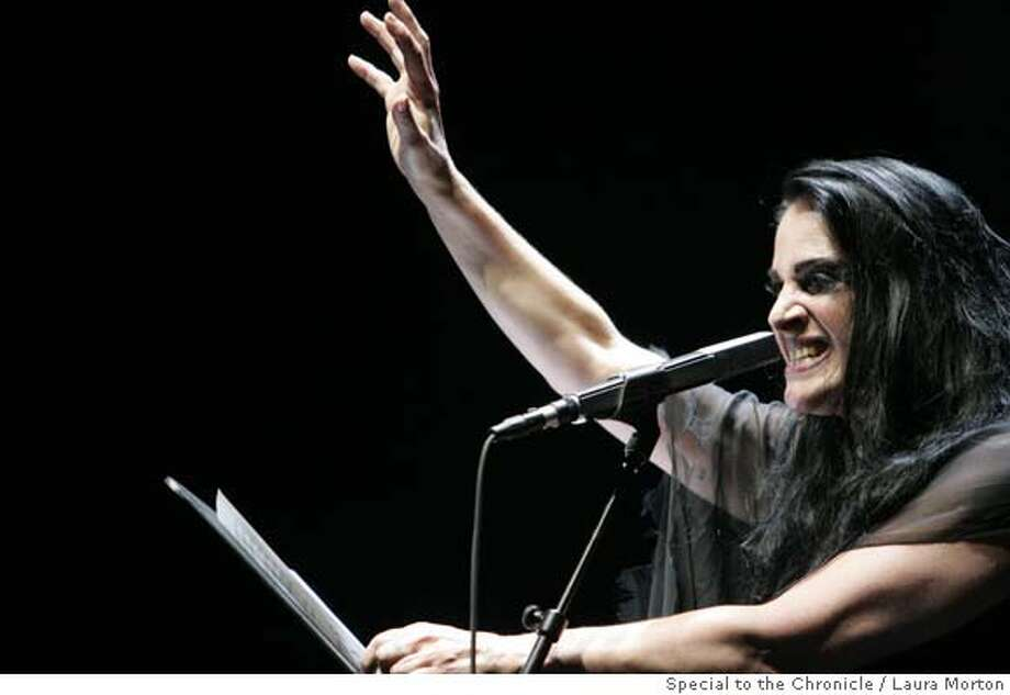Diamanda Galas performs at the Yerba Buena Center for the Arts Theater in San Francisco, CA. Photo: Laura Morton