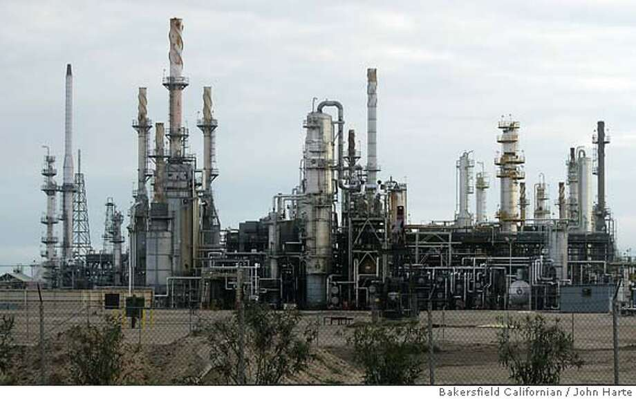 The Shell refinery on Rosedale Highway is ranked No. 49 on a list of possible terrorist targets in California. In all, Kern County has six possible targets. Bakersfield Californian photograph byJohn Harte. MUST CREDIT. The Shell refinery on Rosedale Highway in Bakersfield in scheduled to be shut down by October. The Shell refinery on Rosedale Highway in Bakersfield in scheduled to be shut down by October. Pub Date: 2/26/2003 News A1 Photo: John Harte
