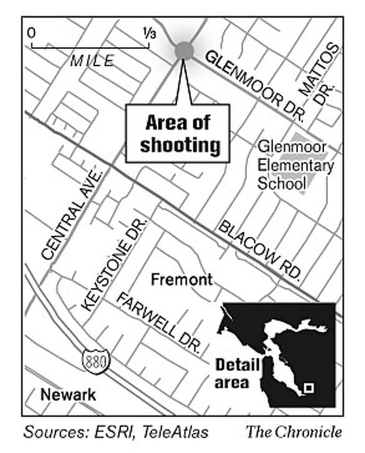 Area of shooting. Chronicle Graphic