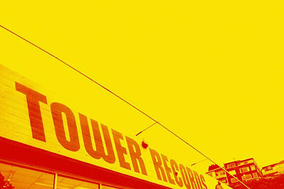 Photo illustration for Tower19 centerpiece on 10/19/06. Photo illustration: Erick Wong / The Chronicle Original Photo: Paul Sakuma / AP An exterior view of a Tower Records store is seen in San Francisco, Friday, Oct. 6, 2006. After a lengthy auction stretching over two days, a federal bankruptcy judge on Friday approved sale of California-based Tower Records to Great American Group, which plans to liquidate the music retailer. (AP Photo/Paul Sakuma)  Ran on: 10-19-2006  Photo caption