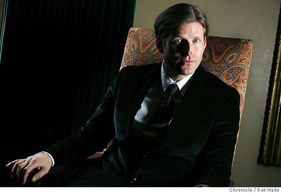 "MOVIE21_0049_KW_.jpg  Actor/Director Crispin Hellion Glover whose directing debut movie ""What is It"" opens at the Castro Theatre on October 20, 2006 poses for a portrait in the mezzanine level of the Castro Theatre on Tuesday September 26, 2006. Kat Wade/The Chronicle ** Crispin Hellion Glover (book cover) cq Photo: Kat Wade"