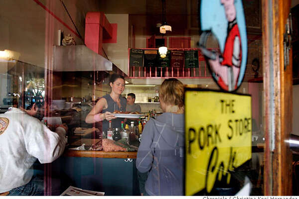 Pork Store Cafe is the Bargain Bite to run in 96 Hours October 19.This is a good ol' American breakfast spot: If possible, try to go in the morning or on a weekend to get the feel of the crowd. Food-wise, a shot of something like the Santa Fe scramble or a stack of blueberry pancakes or a waffle with butter and syrup would do the trick.  .(CHRISTINA KOCI HERNANDEZ/THE CHRONICLE)