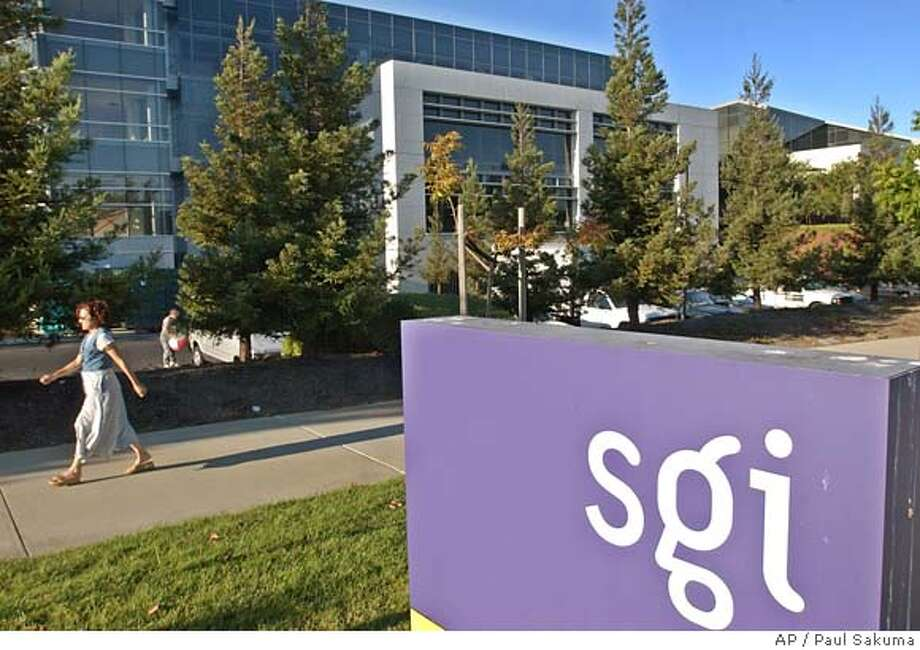 Exterior view of Silicon Graphics Inc. headquarters in Mountain View, Calif., Tuesday, Aug. 26, 2003. Troubled computer maker Silicon Graphics Inc. said Wednesday it is cutting another 600 jobs, or nearly 17 percent of its work force, in its latest effort to keep costs in line with sagging revenues. Including 400 layoffs announced in May, SGI will have reduced its total headcount by 25 percent, to 3,000, when the latest round is completed over the next several months. (AP Photo/Paul Sakuma) Ran on: 08-22-2005  Osama bin Laden appears in an undated videotape obtained by the Middle East Broadcasting Corp. cat Photo: PAUL SAKUMA