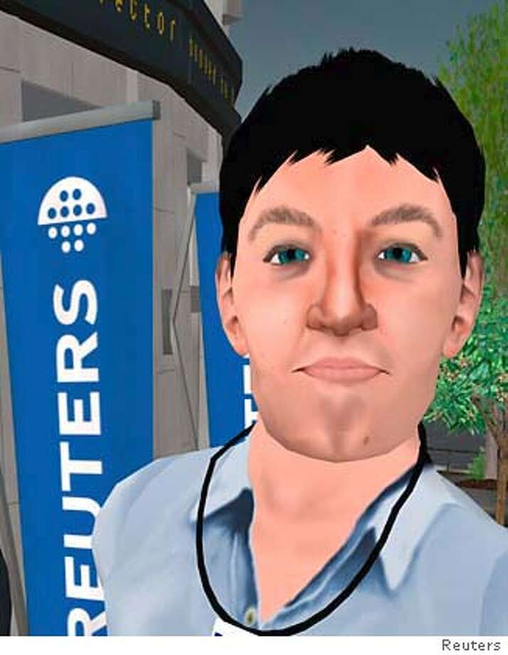 """REUTERS17 � The online community Second Life has it's own monetary system, tattoo parlors and wedding planners � and now the virtual world has a full-time beat reporter from the Reuters international wire service. Adam Pasick has adopted the persona """"Adam Reuters"""" and roams the community created by San Francisco-based Linden Labs, covering stories that relate to its more than 386,000 inhabitants. credt: Jonathan Bainbridge from Reuters Photo: Ho"""