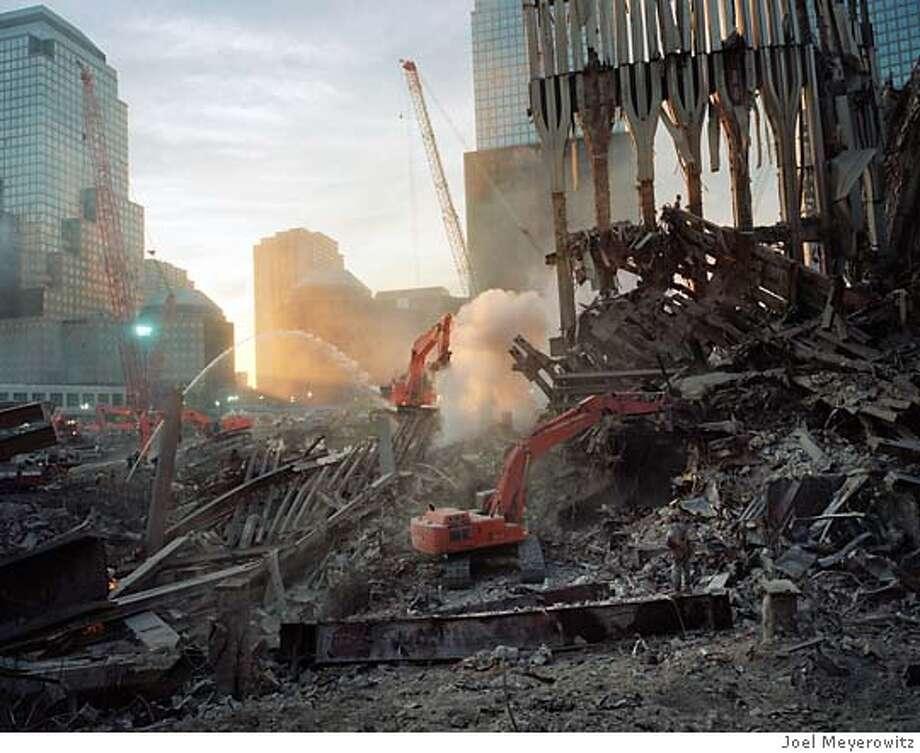 Inside the pile, looking west. Photo by Joel Meyerowitz/Courtesy Edwynn Houk Gallery  Photo taken on 10/24/01, in New York, NY Photo: Joel Meyerowitz