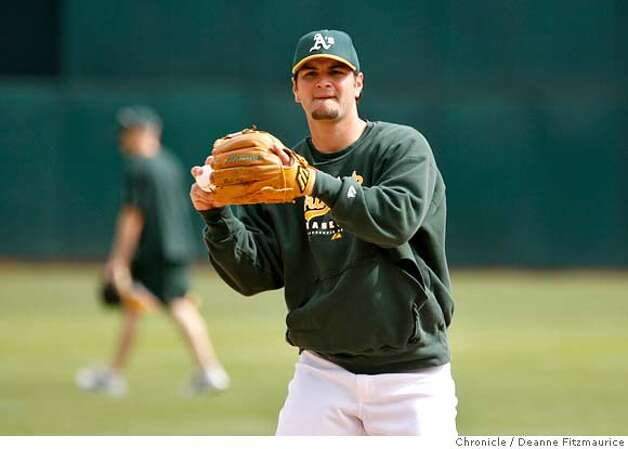 athletics_0342_df.jpg  Eric Chavez takes practice. The Oakland Athletics and the Minnesota Twins practiced today on the off day before game three Friday in the Division Series. Event in Oakland on 10/5/06.  (Deanne Fitzmaurice/ The Chronicle) Mandatory credit for photographer and San Francisco Chronicle. /Magazines out. Photo: Deanne Fitzmaurice