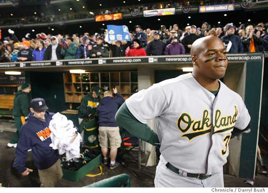 After 16 seasons with the White Sox, Frank Thomas played his last four seasons with Oakland and Toronto. He hit 39 home runs for the Athletics in 2006. Photo: Darryl Bush